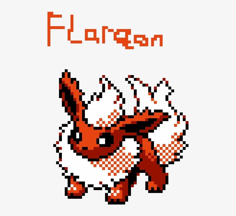 Flareon Direct Image Link Flareon Pixel Art Free Transparent Png Download Pngkey