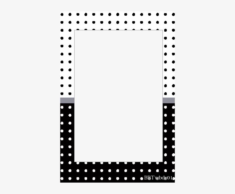 Polka Dot Border Templates Free This Png Templates - Black And White Polka Dot Border Template, transparent png #970415