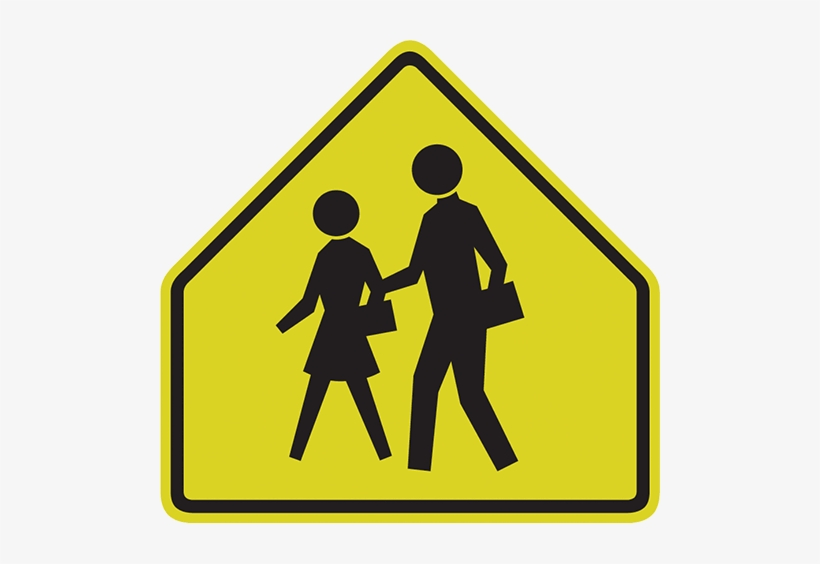 School Sign - School Zone Road Sign, transparent png #970865