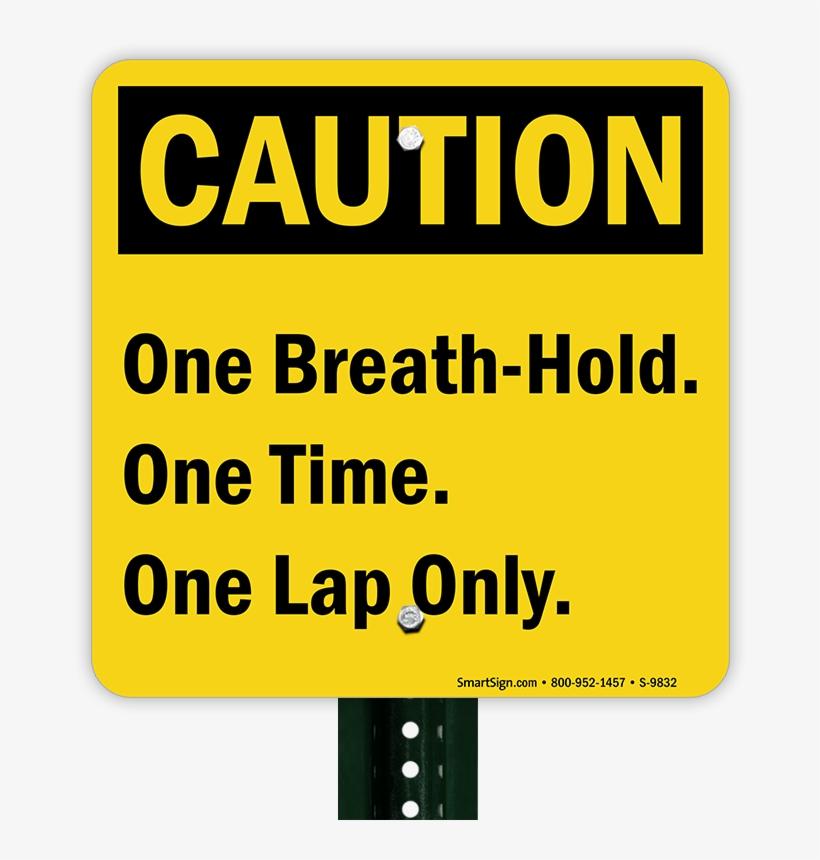 Caution Pool Sign - Caution Sign, transparent png #971056