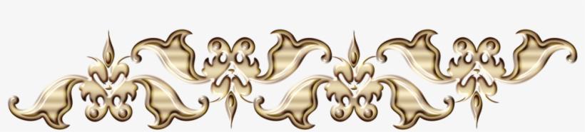 Golden Floral Border Free Png Image - Design Patterns For Borders Png, transparent png #972384