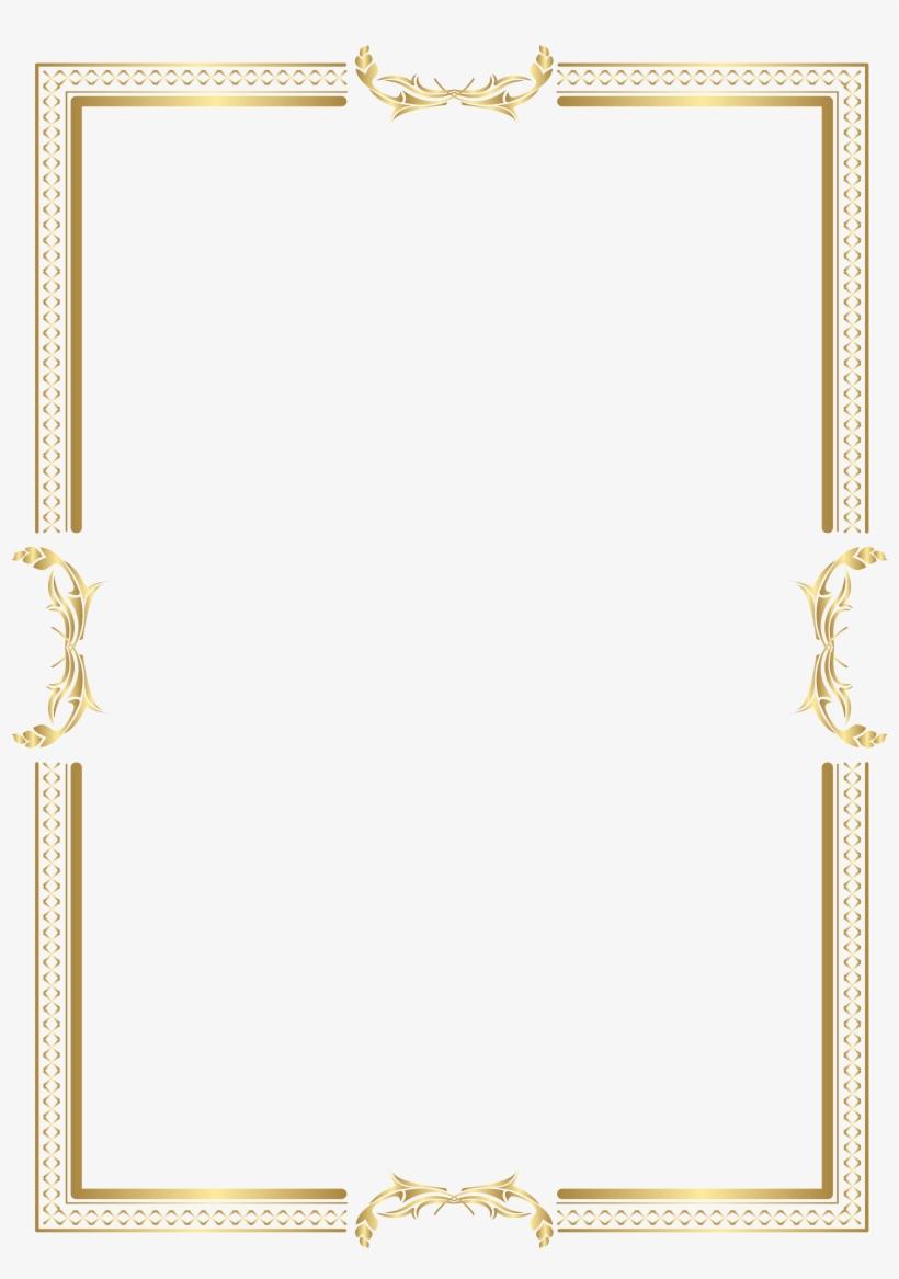 Transparent Gold Border - Free Transparent PNG Download ...
