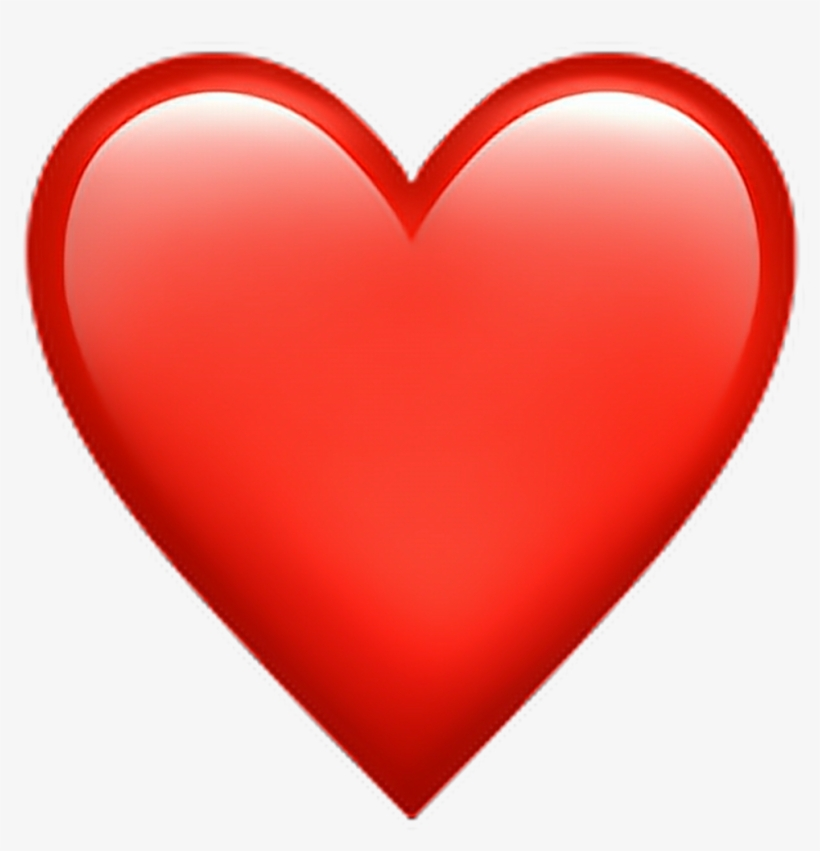 Red Heart Emoji Heart Emoji Emoticon Iphone Iphonee - Heart Emoji Png, transparent png #974722