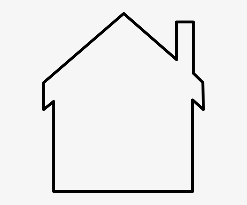 House outline. Clipart black and white