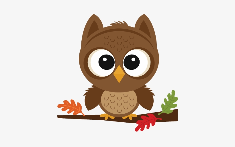 Fall Owl Scrapbook Cut File Cute Clipart Files For - Fall Owl, transparent png #976207