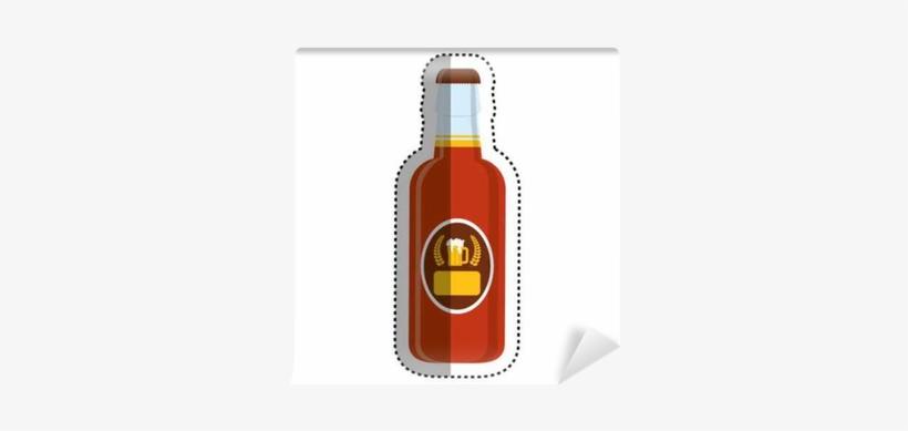 Bottle Of Beer Icon Vector Illustration Graphic Design - Beer Bottle, transparent png #977884
