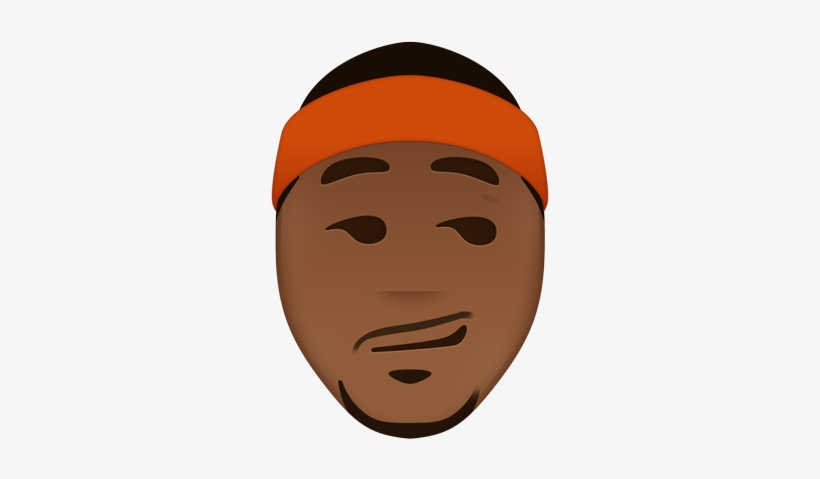 Danny Devito Face Png Vector Library Stock - Carmelo Anthony Emoji, transparent png #978737