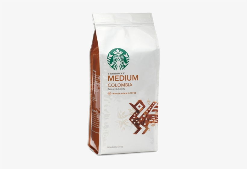 Starbucks Coffee Colombia Coffee Beans 250g - Starbucks New Logo 2011, transparent png #979100