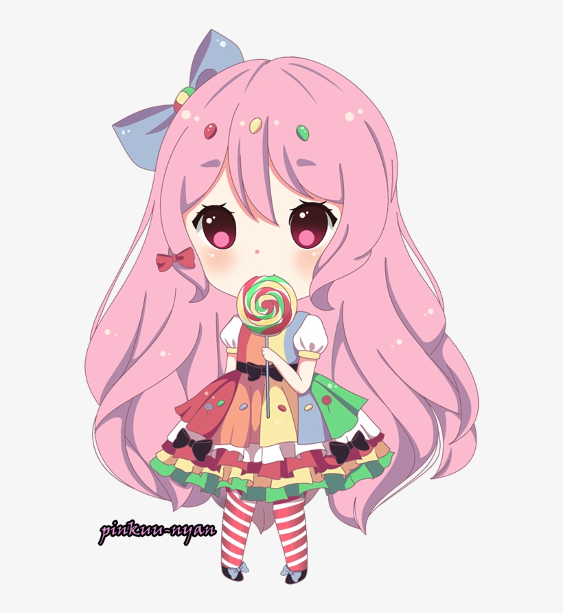 Lollipop - Anime Lollipop Girl Chibi, transparent png #979411