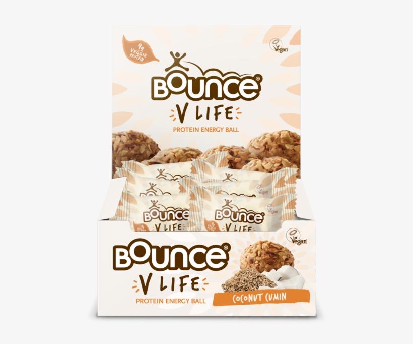 Bounce V-life Coconut Cumin Protein Energy Ball 40g - Bounce V-life Vegan Ball, transparent png #9710143