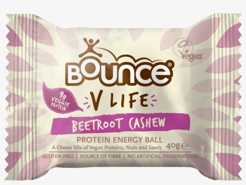 Bounce V-life Cashew & Beetroot Protein Energy Ball - Bounce Protein Balls Vegan, transparent png #9710225