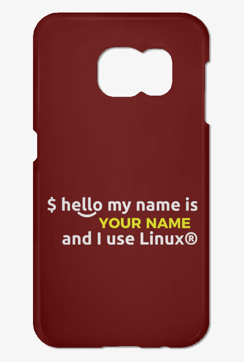 Hello My Name Is - Mobile Phone Case, transparent png #9717073