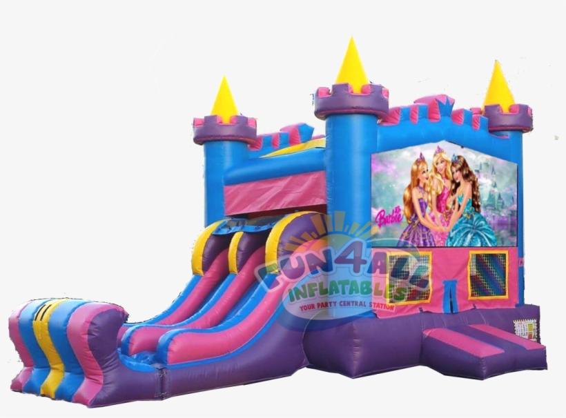 Barbie Queens Bounce Slide Rental - Barbie Bounce House Rental, transparent png #9726170