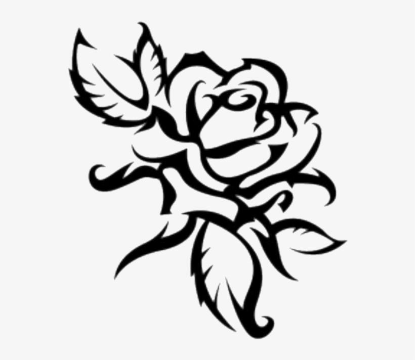 Rose Sticker - Drawing Outline Rose Flower, transparent png #9737888