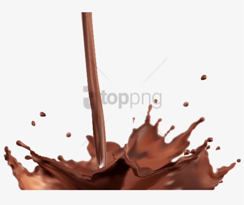 Free Png Download Chocolate Milk Splash Png Png Images - Chocolate Splash Vector Free Download, transparent png #9739875