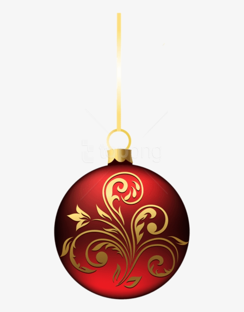 Free Png Large Transparent Bluered Christmas Ball Ornament - Red Christmas Ball Png, transparent png #9740664