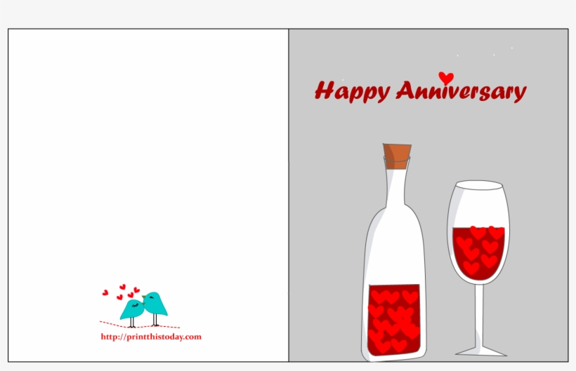Wine Valentines Day Card, transparent png #9742106