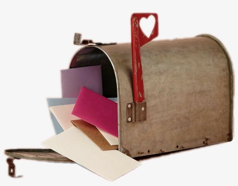 #love #letters #vintage #loveletters #mailbox #heart - Vintage Mail Box Transparent, transparent png #9745049