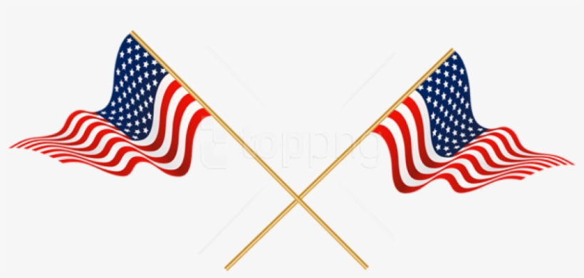 Free Png Download Usa Crossed Flags Png Images Background - American Flag Clipart Transparent, transparent png #9746732