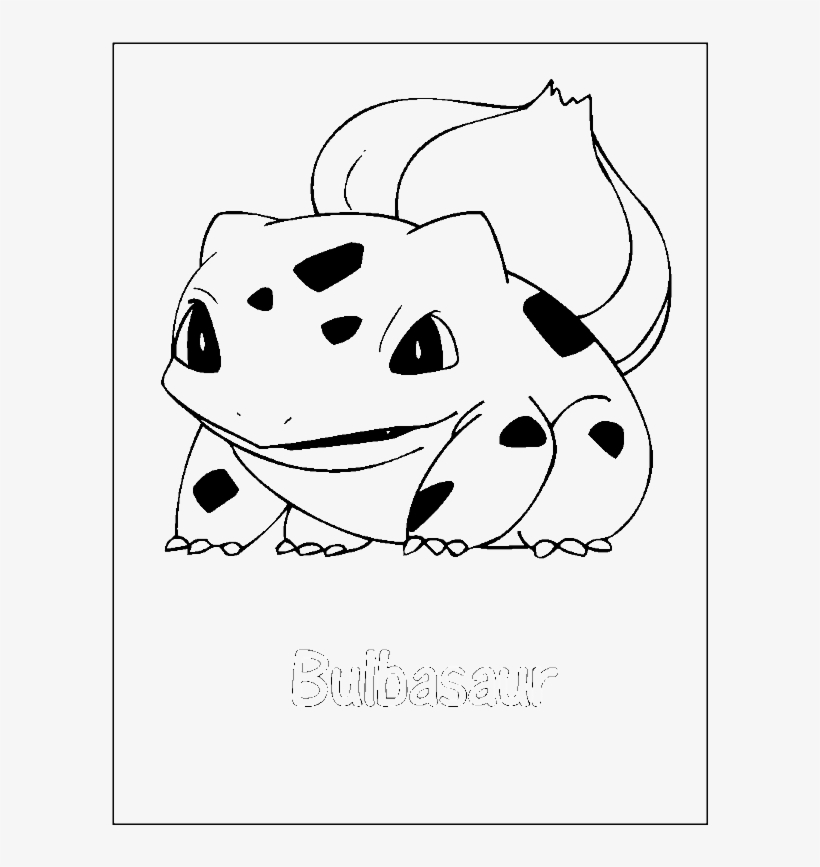 Bulbasaur Pokemon Coloring Page Pokemon Free Transparent Png Download Pngkey