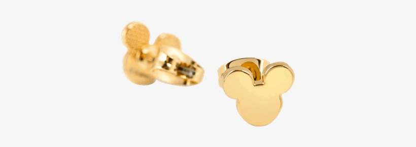 Gold Mickey Mouse Earrings, transparent png #9748077