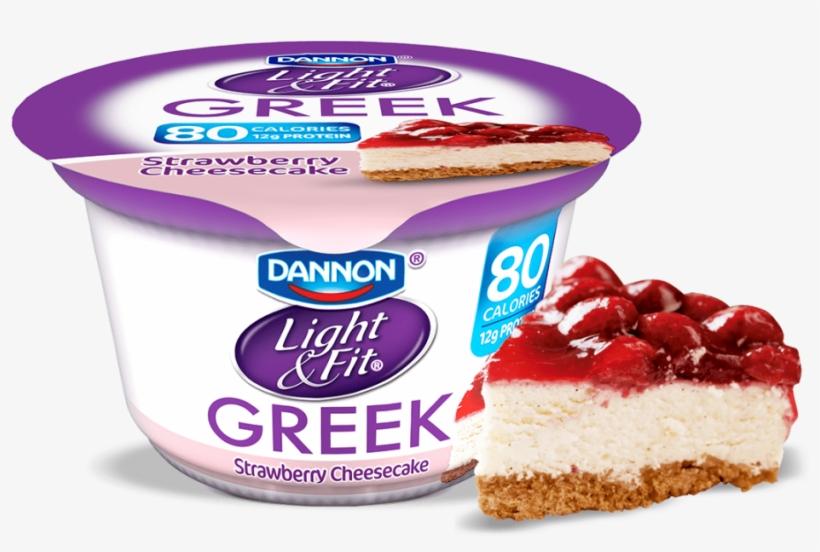 Strawberry Cheesecake Greek Yogurt - Greek Yogurt Strawberry Banana, transparent png #9748704