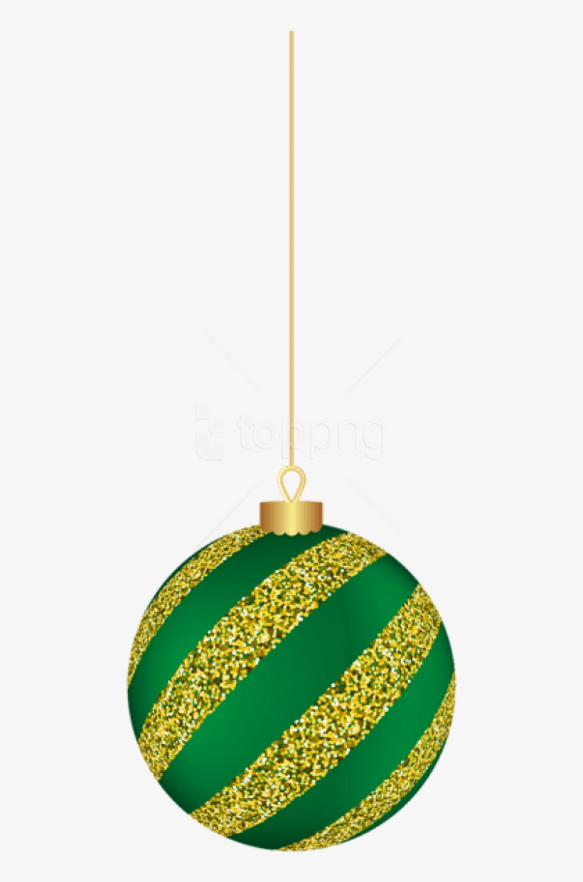 Free Png Christmas Hanging Ball Green Png - Christmas Green Hanging Balls Png, transparent png #9758560