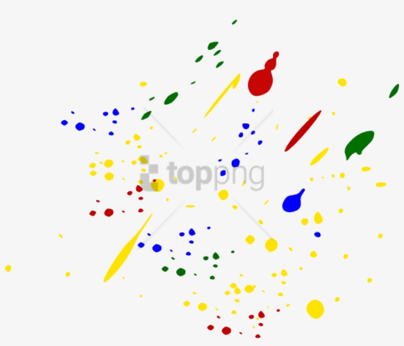 Free Png Colorful Paint Splatters Png Png Image With - Gold Paint Splatter Png, transparent png #9766822