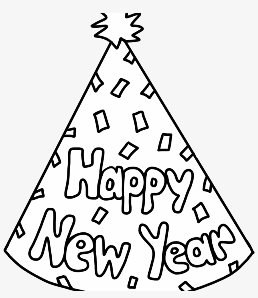 Free Christmas New Years Coloring Pages 10 C Teach New Years Eve 2019 Colouring Pages Free Transparent Png Download Pngkey