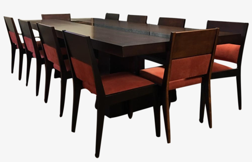 Dialogica 10-foot Custom Made Dining Table With Ten - Kitchen & Dining Room Table, transparent png #9768513