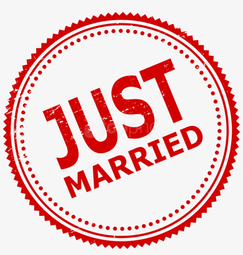 Free Png Just Married Stamp Png Images Transparent - Just Married Sign Png, transparent png #9769992