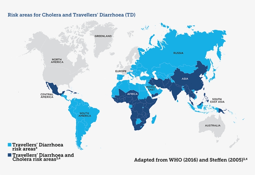 Disease Risk Map - Simple High Quality World Map - Free ...