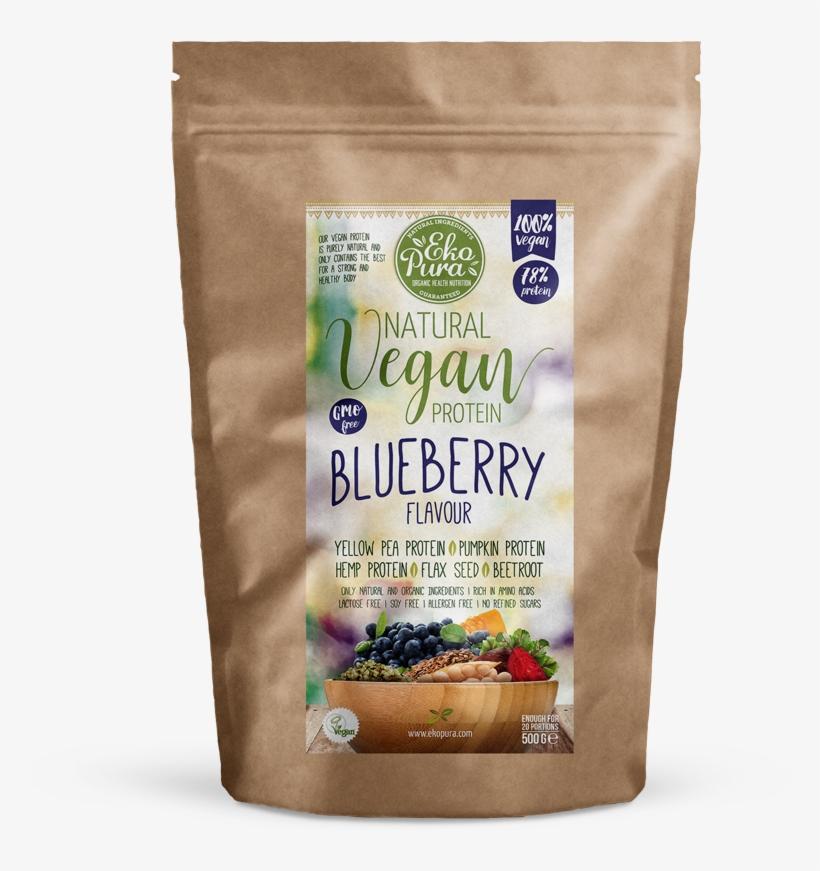 Ekopura Natural Vegan Protein Blueberry Pack - Coko Milk Protein, transparent png #9772002