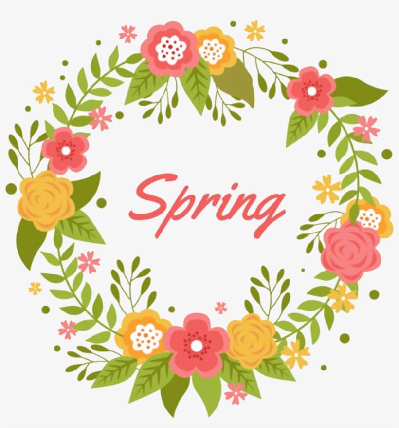 Community Events Calendar - Spring Flower Wreath Vector, transparent png #9775779