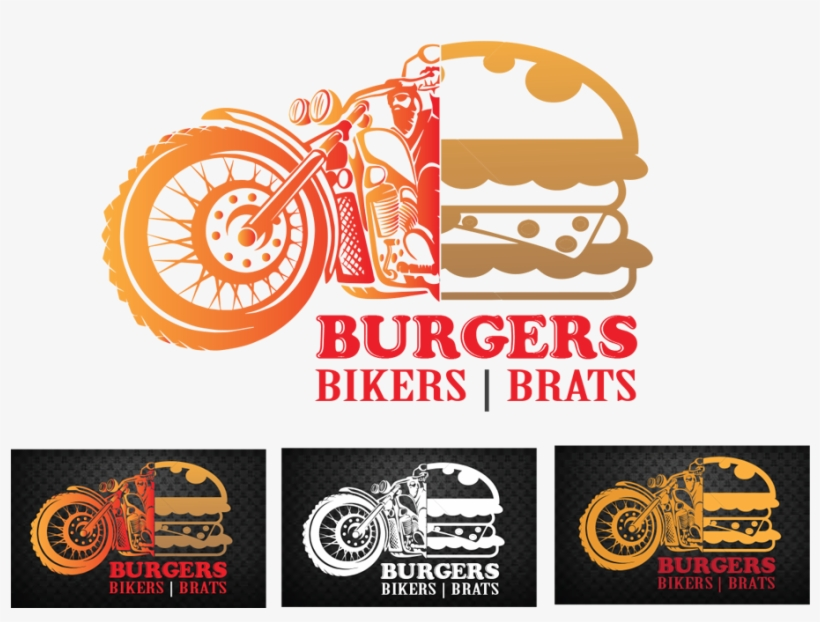 Masculine Upmarket Food Store For Burgers Bikers - Food Bikers Logo, transparent png #9779102