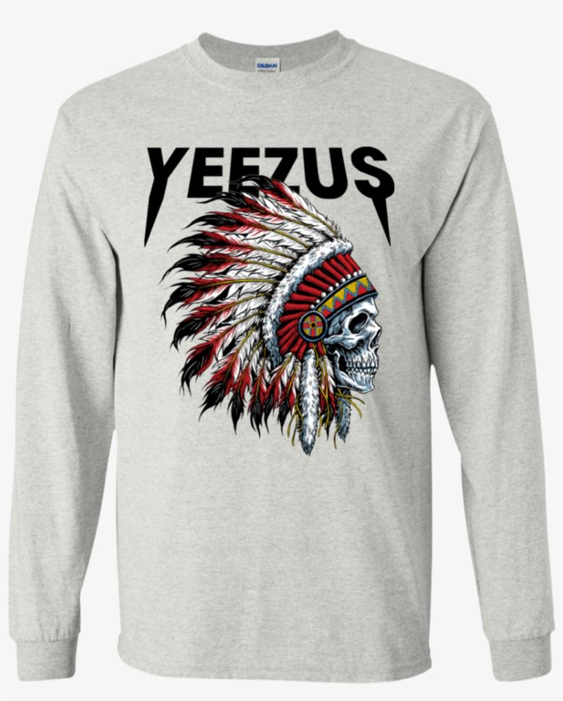3fa0dd513b6a Yeezus Shirt Kanye God West Dream Tour College Graduate - Indian Chief  Tattoo Skull