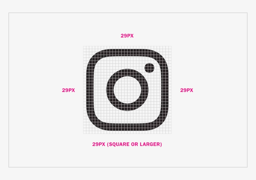Minimum Sizes - Follow Us On Instagram Black And White, transparent png #9797727