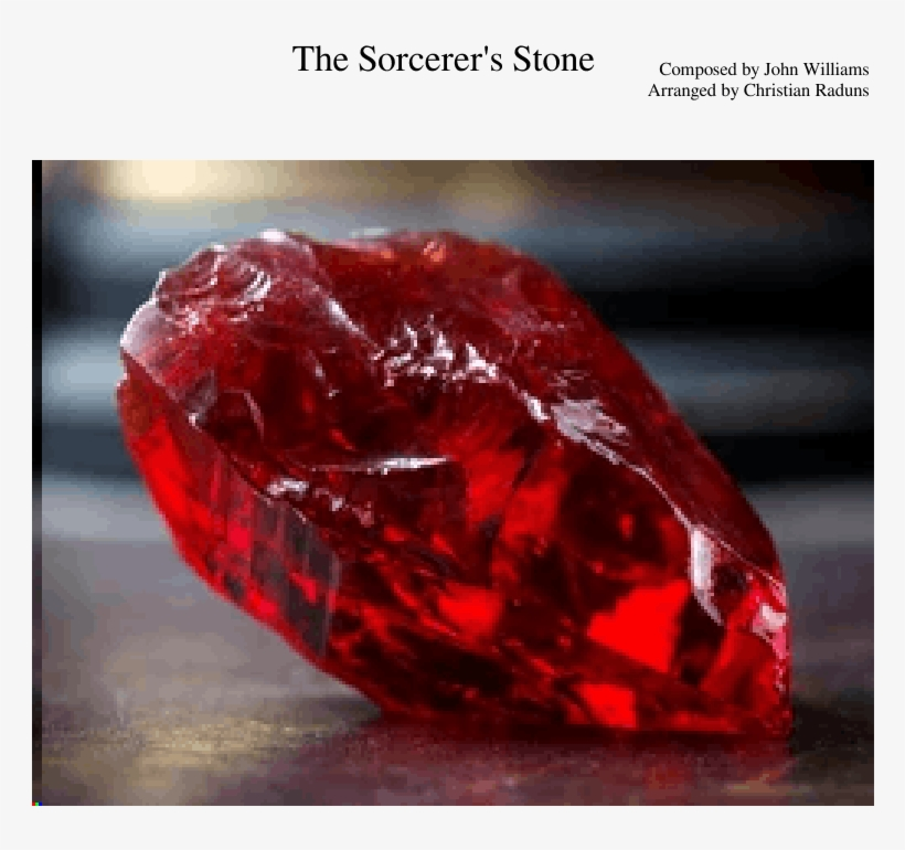 The Sorcerer's Stone Sheet Music For Flute, Clarinet, - Harry Potter Philosopher's Stone Stone, transparent png #9799561