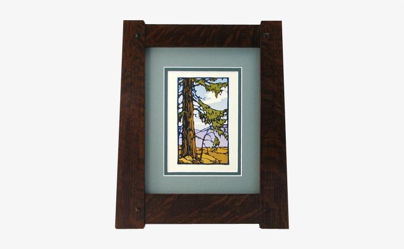 Vintage Craftsman Tapered Wood Picture Frame - Craftsman Wood Picture Frames, transparent png #982074
