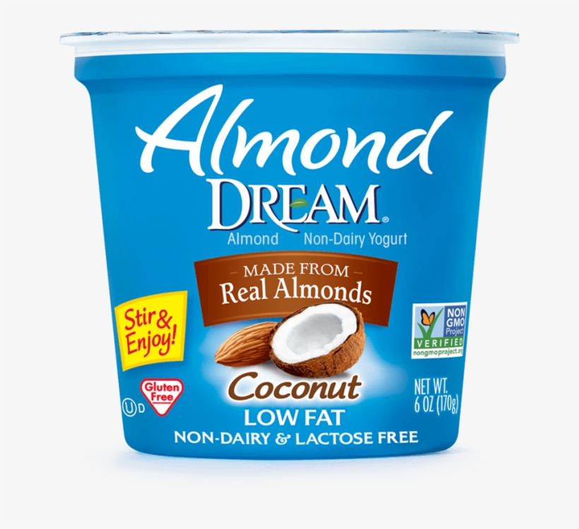Almond Non-dairy Yogurt, Coconut - Almond Dream Non-dairy Lowfat Yogurt, Coconut - 6 Oz, transparent png #983966