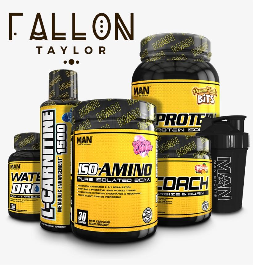 Fallon Taylor's Fat Burning Stack - Man Sports Iso-amino - 30 Servings Rainbow Sherbet, transparent png #984307