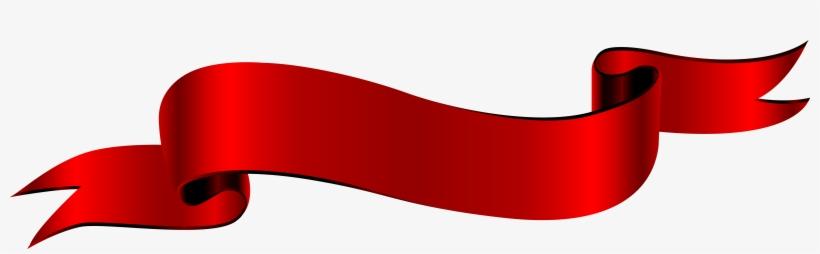 Antique Banner Png - Transparent Red Ribbon Banner, transparent png #985127
