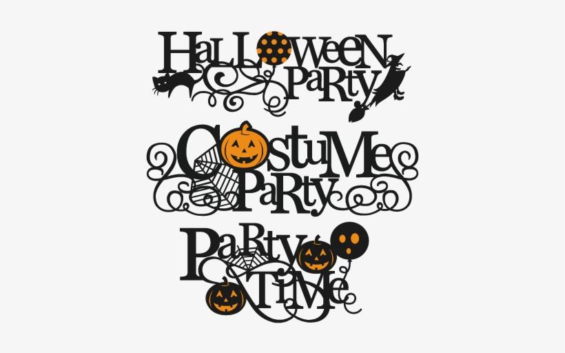 Halloween Party Titles Svg Scrapbook Title Svg Cutting - Halloween Party Title, transparent png #987591