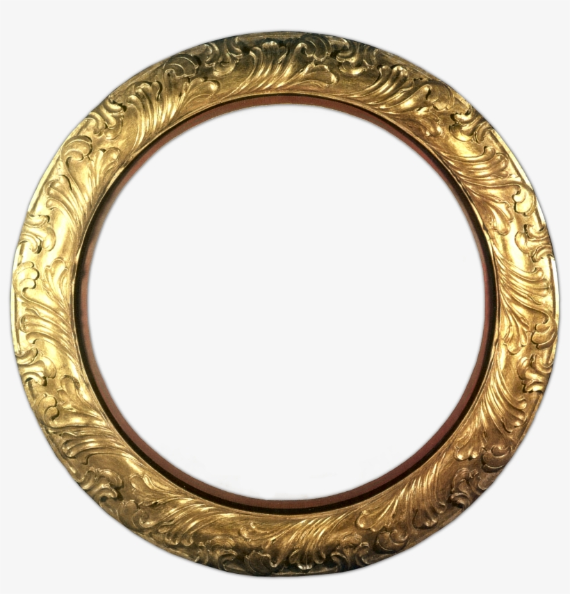 "Gold Circle Matted - True Square Sticker 3"" X 3"", transparent png #988434"