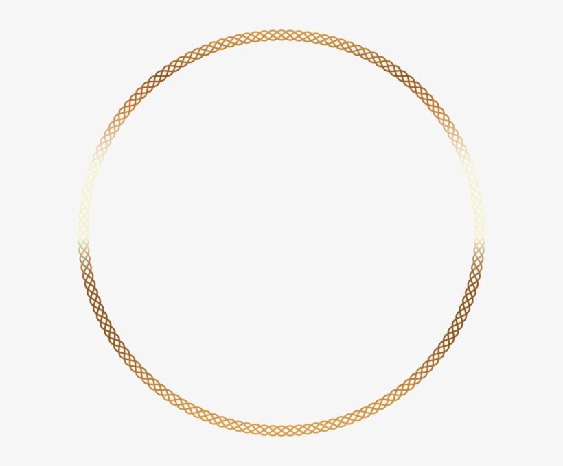 Round Deco Border Frame Png Clip Art - Colored Gold, transparent png #988453