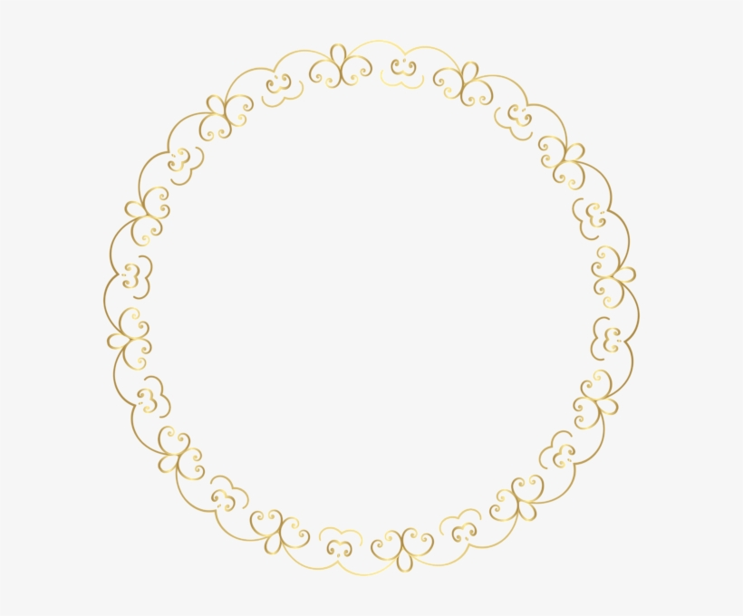 Round Gold Border Frame Png Clip Art Image - Round Gold Border Png, transparent png #989478
