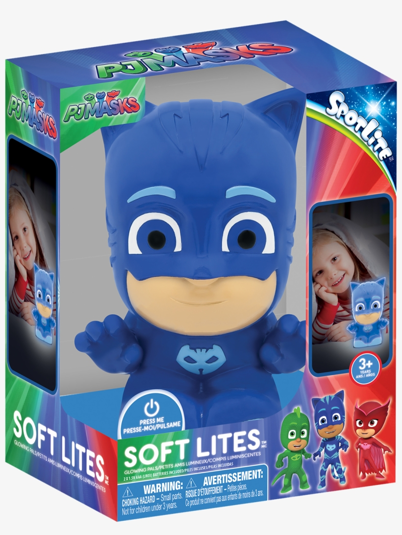 Soft Lites - Pj Masks - Catboy - Plug Free And Portable - Pj Masks Soft Lites, transparent png #9806392