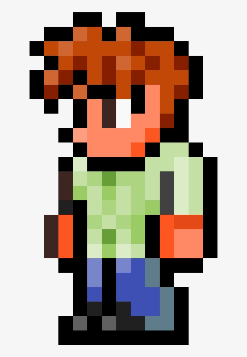 Guide From Terraria - Terraria Guide Pixel Art, transparent png #9806791