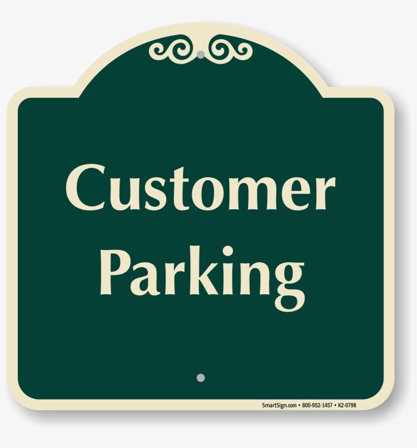Designer Parking Signs - Thanks For Your Business Sign, transparent png #9811801