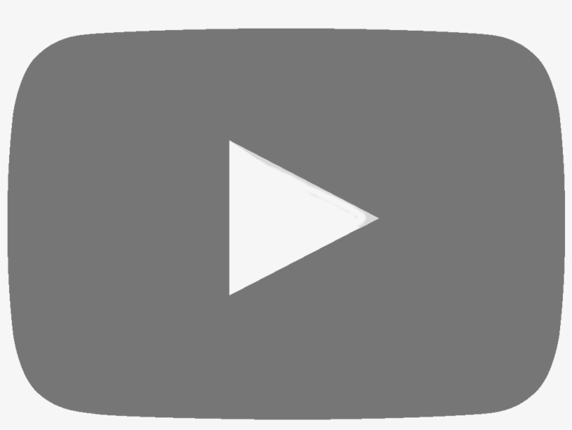 Youtube - Youtube Grey Play Button, transparent png #9813319